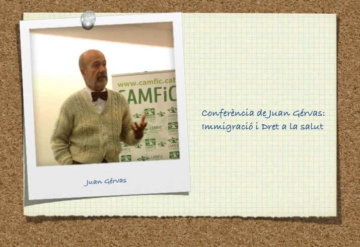 Conferència de Juan Gérvas: Immigració i Dret a la salut